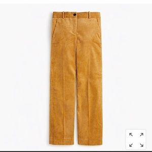 NWT J.Crew Wide leg cropped corduroy pants